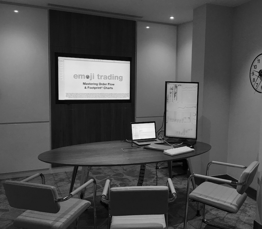 emoji trading classroom order flow training course